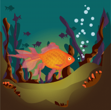 Illustration. Fish.