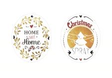Этикетки для рождественских духов для дома