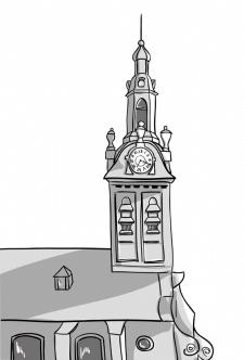 Векторний малюнок старовинної церкви