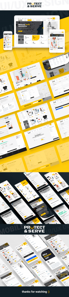 """Website design for Online Store """"Protect & Serve"""""""