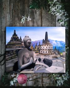 "Картина маслом ""Будда"""