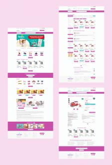 """Дизайн интернет-магазина детских игрушек """"BumBum"""""""