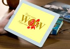 """Логотип для інтернет-магазину квітів """"WOW"""""""