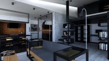 Дизайн квартиры в 3ds Max, Mental Ray