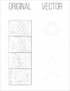 Отрисовка в вектор по фото чертежей