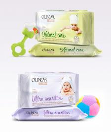 Упаковка детских салфеток