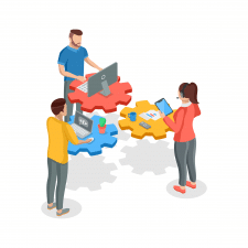 Team work - isometric