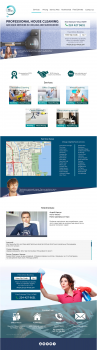 landing page for the cleaning company