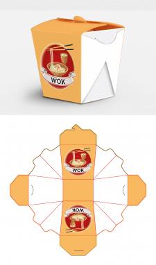 Высечка и дизайн упаковки для еды на вынос