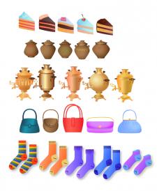 Разработка предметов для игрового детского сайта iqsha.ru