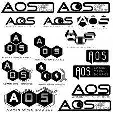 Разработка вариантов логотипа для компании AOS