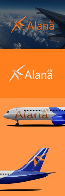 Логотип для авиакомпании Alana