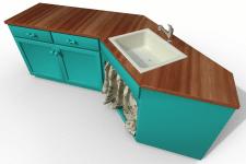 3 д модель столика с раковиной