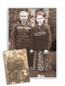 Реставрация фотографии, замена фона