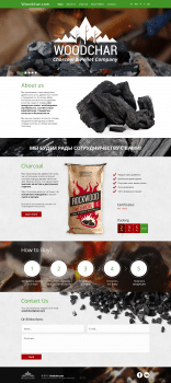 Woodchar - Landing Page for Charcoal&Pellet comany