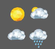 Иконки мобильного приложения погоды