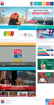 Сайт для телевизионного канала английкого языка