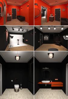 3d  интерьер фотостудии