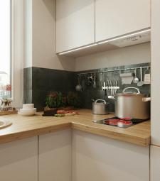 3d Визуализация кухни / художественный ракурс