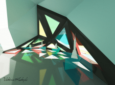 светографика в арт-галерее