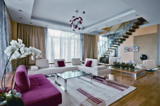 интерьер гостинной загородного дома