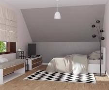 3d визуализация и моделирование спальной комнаты