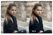Портрет девушки для размещения в журнале