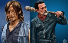 """Портреты персонажей """"Walking Dead"""""""