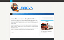 Сайт визитка DUBROVA - dubrova.cz
