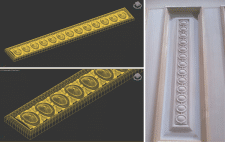 3D-модель филенки для ЧПУ