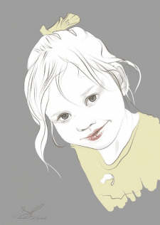 Портрет девочки/ векторная графика