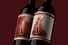 """NAKED DIONYSUS"" Bottle sticker"