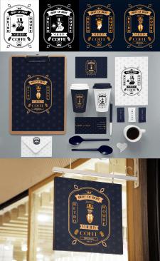 Логотип и фирменный стиль кофейни