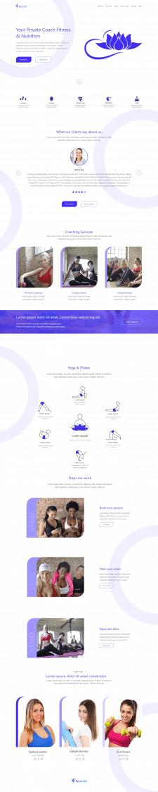 Дизайн сайта студии йоги