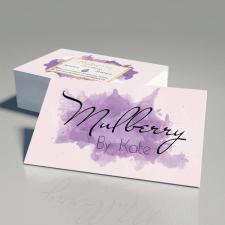 """Визитки для домашней кондитерской """"Mulberry"""""""