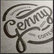 Логотип кофейни каллиграфия