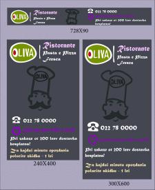 "Баннеры для ресторана ""Оливия"""