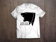 Принт на футболке Stok Shop Black Bear