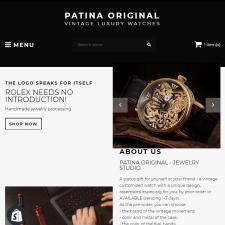 Shopify интернет-магазин Patina Original