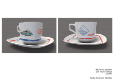 Иллюстрация и визуализация на чашке