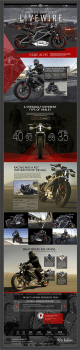 Дизайн лендинга под Harley-Davidson