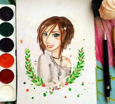 портрет в анимационном стиле