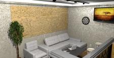 Кухня студія 51кв.м2 вид зала
