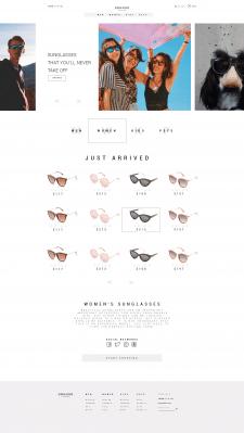 Дизайн сайта Glasses