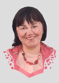 Портрет мамы в стиле LowePoly
