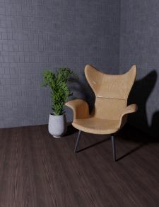 3d визуализация кресла для рекламного фото