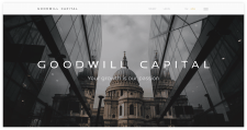 Адаптивная вёрстка сайта для компании Goodwil