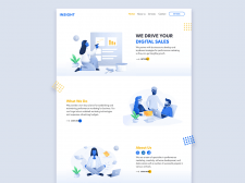 Concept of the main page of Digital Agency from Sa