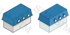 Отрисовка схематических иконок домов