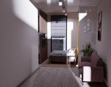 3d визуализация спальной комнаты